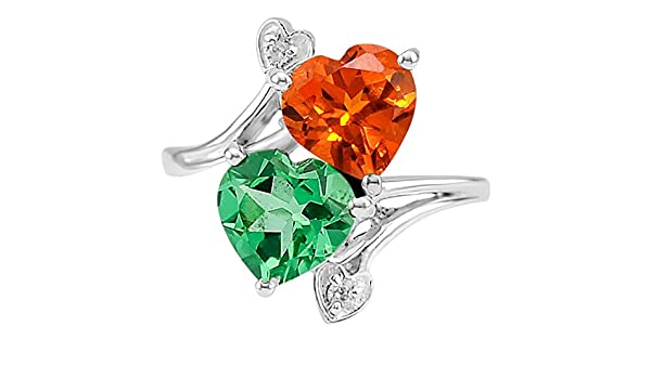 Desiregem Indian Ruby Lab Created 8x8 MM Heart Shape /& Cz 925 Sterling Silver Ring Size 6-10 DGR1070/_A