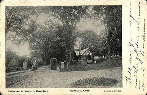 Entrance to Wooster Cemetery Danbury, Connecticut Original Vintage Postcard