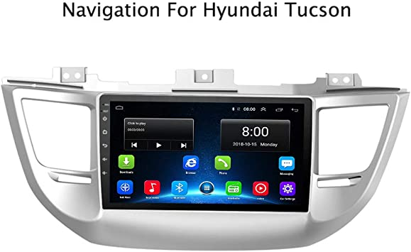 Android 8.1 IPS Car Radio GPS Stereo Navi for Hyundai IX35 Tucson 2015-2017 Head Unit Multimedia Video Player with Bluetooth WiFi BT Touch Screen Navigation Tucson Android 8.1 1+16G