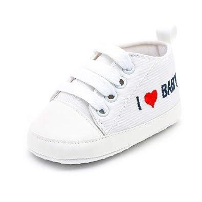 ead13cf707377 LEvifun Chaussure Baskets Bébé Fille Garçons Chaussure Bébé Fille Premier  Pas Lettre Imprimée Souple Chic Chaussures