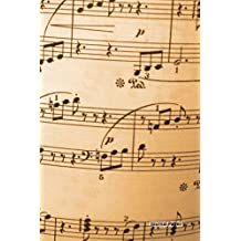 """Journal Pages - Vintage Music (Unruled): 6"""" x 9"""", Classic Notebook- Unlined Plain Journal,for Notes,sketches, 100 Pages (Durable Cover)"""