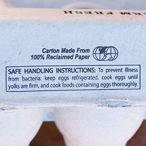 Egg Cartons- Printed Recycled Egg Carton, Bulk 250 Egg Cartons per Bundle, Attractive Farm Fresh Design w/FDA reqs, One Dozen Eggs, Recycled Paper Pulp Cardboard, Small Medium Large & XL Eggs by Henlay (Image #4)