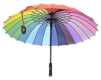 Zein Rainbow Walker - Paraguas de Golf con asa de Almacenamiento Seguro, Funciona como un