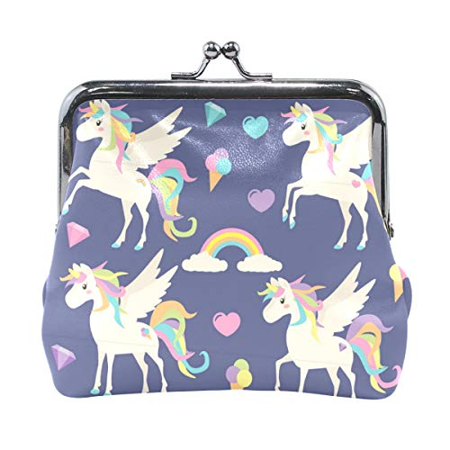de84fd71e6c6 Coin Purse Cute Unicorns Rainbow Womens Wallet Clutch Bag Girls Small Purse
