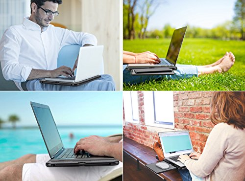 Right Stable Bed Lap Surface Retractable Stand Tray Mouse Left Work Computer Couch or Pad Heat Table Cooler Shield For AboveTEK Notebook Portable w Sturdy Non Desk Tablet Laptop w Gray Travel Slip Sofa W4pyU0yvqB