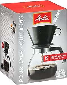 Melitta Cone Filter Coffeemaker 10 Cup, 1-Count