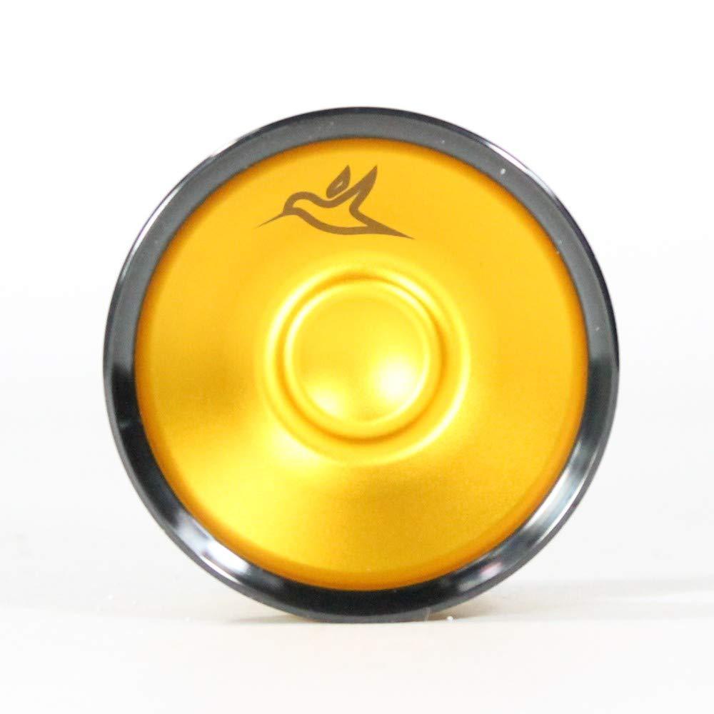 yoyofriends Hummingbird Yo Yo - 7068 Aluminium with Stainless Steel Rims (Orange with Black Ring) by yoyofriends (Image #2)