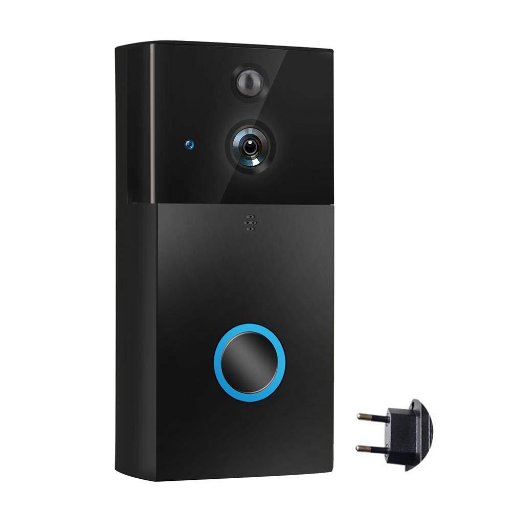Enjoyall Video Türklingel, WiFi Smart Türklingel mit 720P HD Überwachungskamera Echtzeit-Video und Zwei-Wege-Gespräch, Nachtsicht, PIR Motion Detection App Control für iOS und Android