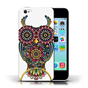 KOBALT? Protective Hard Back Phone Case / Cover for Apple iPhone 5C | Owl Design | Ornamental Animals Collection