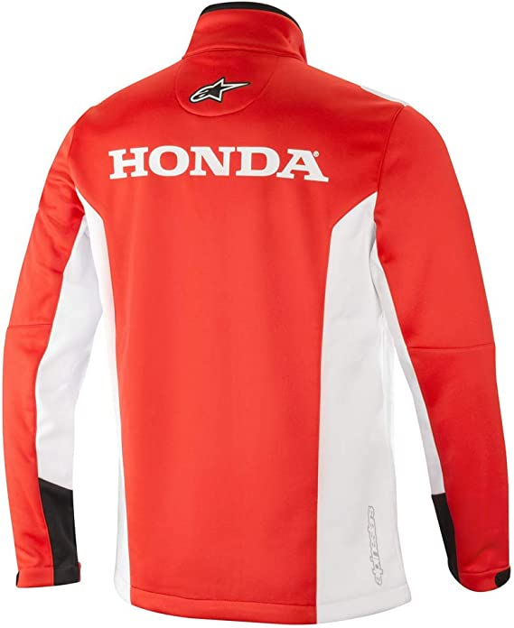 Alpinestars Honda Softshell Jacke Rot Weiß Xl Bekleidung