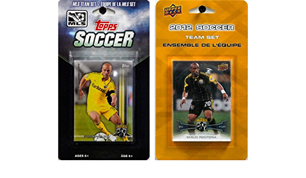 White C/&I Collectables MLS Columbus Crew Mens 4 Different Licensed Trading Card Team Sets