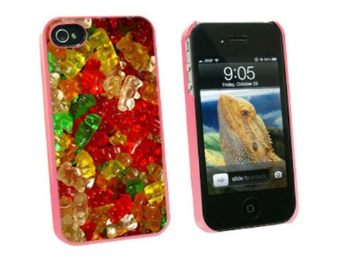 Graphics and More Gummy Gummi Bears - Snap On Hard Protective Case for Apple iPhone 4 4S - Pink - Carrying Case - Non-Retail Packaging - ()
