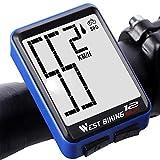 Bicycle Computer Wireless Speedometer, Big Font Data Display Waterproof Automatic Wake-up Stopwatch