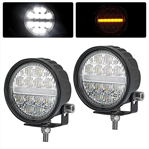 Liteway LED Driving Lights with Turn Signal light- CREE LED Work Lights for Jeep Offroad Truck Car ATV SUV Marine Boat