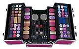 THE COLOR WORKSHOP Professional Colors Coffret Mallette de Maquillage Argent Must have 86 Piece collection Aluminum Train Case -Fuchsia