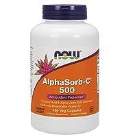NOW Supplements, AlphaSorb-C 500 mg with Threonic Acid & Alpha Lipoic Acid Enhanced, 180 Veg Capsules