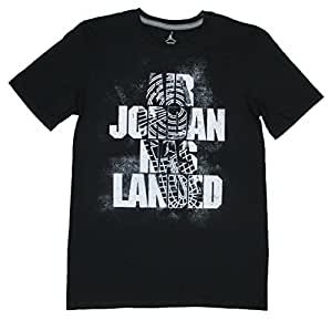 Air Jordan Has Landed Mens Retro 1 T-Shirt (Medium, Black)