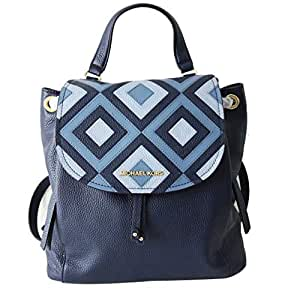 4862615a2dbd Amazon.com  Michael Kors Riley LG Backpack Black Studs Pale Blue ...