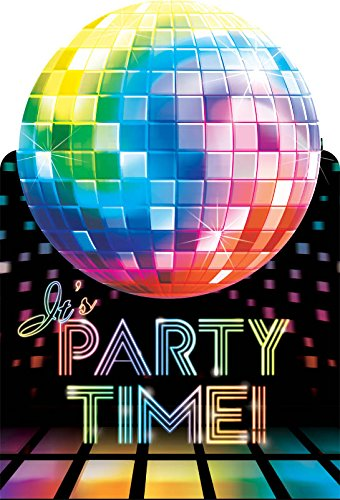 70's Party Invitations (Disco Ball Invitations)
