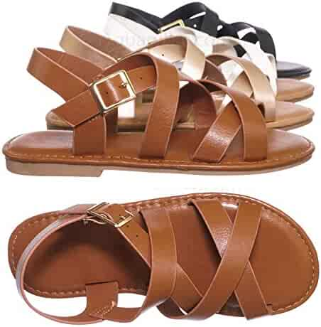 c1abce9c076 Shopping Purple or Brown - Buckle - Sandals - Shoes - Girls ...