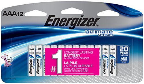 Energizer Ultimate Lithium AAA Batteries, 12 Count (High Energy Aaa Lithium Batteries)