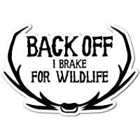 Back Off Sticker Decal Funny Joke Luggage Rude Silly Car Laptop