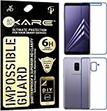 Sajni Creations Ikare Impossible Samsung A8 Plus Front and back Tempered Screen Guard , Strong Plastic Fibre Unbreakable Flexible impossible Tempered Screen Guard Protector for Samsung Galaxy A8 Plus (2018) - Transparent