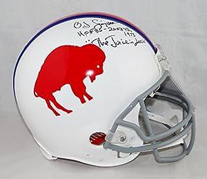 O.J. Simpson Signed Bills F/S Authentic 65-73 TB Helmet W/ 3 Insc- JSA W Auth Blk