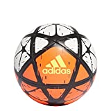 adidas Performance Glider Soccer Ball, White/Solar Red/Solar Yellow, Size 4