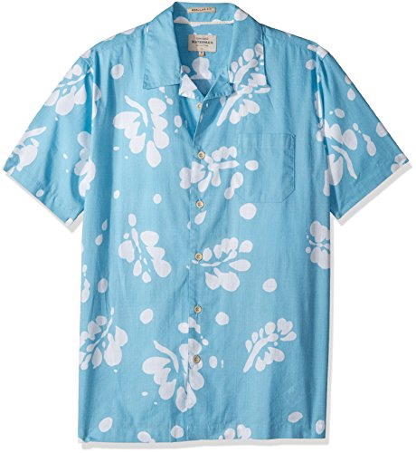 Quiksilver Waterman Men's Los Palmas Button Down Floral Shirt, Clean Air Los Palmas, L