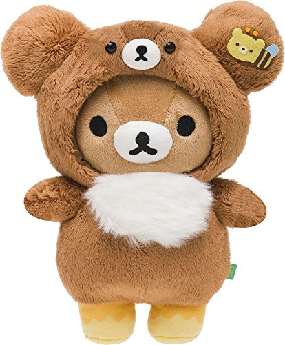 Rilakkuma Atsumete Plush Brown Bear Costume -