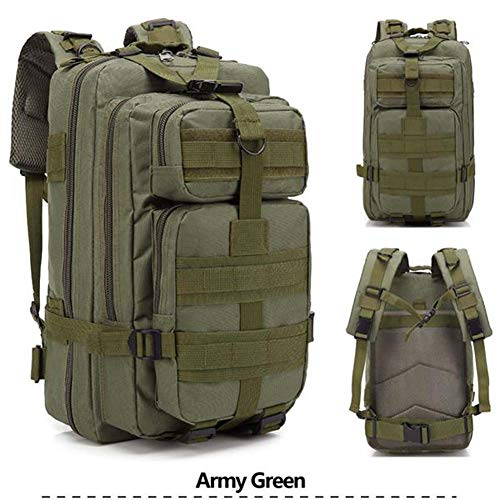 Review Of 25 L Tactical Backpack Small Camping Hiking Backpack Shoulder Bag for Daily and Camping Use (Army Green)