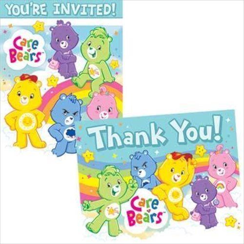 Care Bears Invitations and Thank You Notes w/ Envelopes (8ct ea.) ()