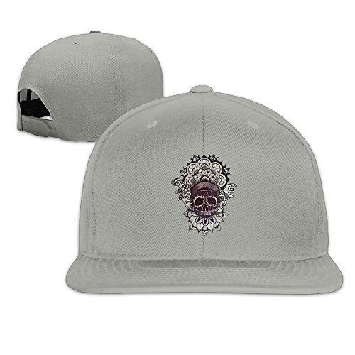 - Nquqiyilu Men Skull Flower Funny Baseball Ash Cap Hat Adjustable Snapback