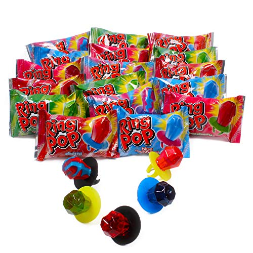 Ring Pop Individually Wrapped Bulk Variety Party Pack - 50Count Candy Lollipop Suckers w/ Assorted Flavors -