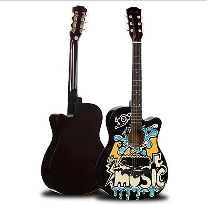 Boll-ATur Graffiti Guitarra acústica folk de 38 pulgadas hecha a ...