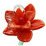 Orange-Glass-Tiger-Lily-Flower-One-of-a-kind-Life-Size-20-long-FREE-SHIPPING-to-the-lower-48-when-you-spend-over-3500