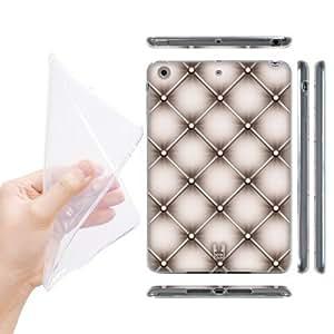 Head Case Designs Beige Diamond Cushions Soft Gel Back Case Cover for Apple iPad mini with Retina Display iPad mini 3