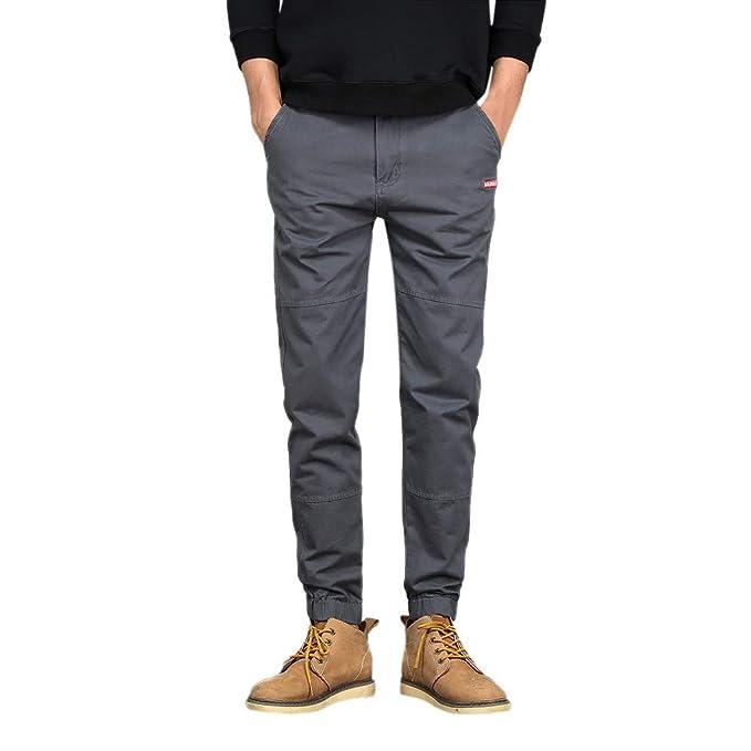 Geilisungren Casuales Pantalones Chino Slim Fit Casual de ...