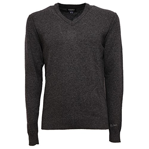 Melange Men Sweater V Scuro Uomo Woolrich 6103w neck Wool Dark Grey Grigio Maglione qX1a7zw