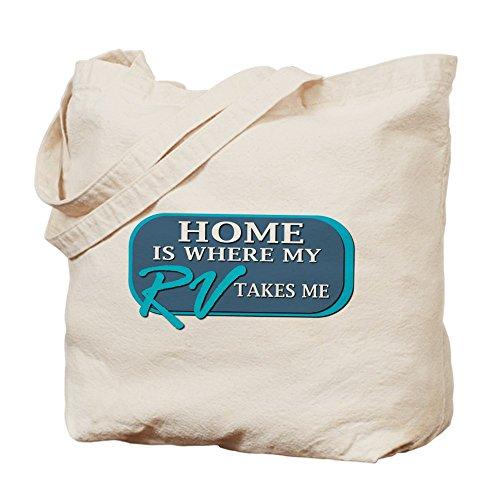 CafePress–el hogar es donde (azul)–Gamuza de bolsa de lona bolsa, bolsa de la compra