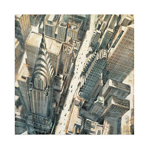 DìMò ART Print on Paper (Poster) Daniels Matthew Aerial View of Chrysler Building Size 39.37x 39.37 inch (100x100 cm)