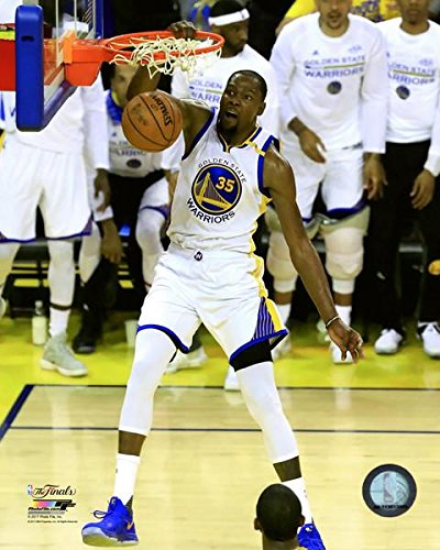 (Golden State Warriors Kevin Durant - Slam Dunk During The 2017 NBA Finals. 8x10 Photo Picture)