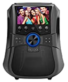 SuperSonic Rechargeable Bluetooth Karaoke System 7-Inch LCD Color Screen, Record Function, USB/AUX/FM/DVD (SC-3077K)