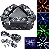 Koval Inc. 90W 4in1 RGBW LED Spider Light 9-Head DMX512 Strobe Effect (90W, RGBW)