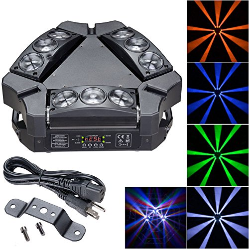 Koval Inc. 90W 4in1 RGBW LED Spider Light 9-Head DMX512 Strobe Effect (90W, RGBW) by KOVAL INC.