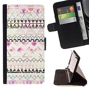 Dragon Case- Mappen-Kasten-Prima caja de la PU billetera de cuero con ranuras para tarjetas, efectivo Compartimiento desmontable y correa para la mu?eca FOR HTC One M7- Aztec Moustache Nebula Tribal Patterns