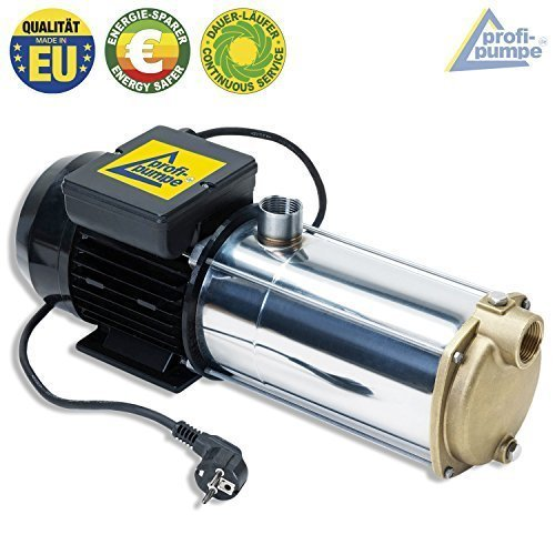 HAUSWASSERWERK HAUSWASSERAUTOMAT SELBSTANSAUGENDE KREISELPUMPE PUMPE INNO-TEC 1250 - LEISE ENERGIESPARSAME EDELSTAHL-Pumpe für Klarwasser zur Hauswasser TRINKWASSER REGENWASSER und Brauchwasser- Versorgung | PROFI & INDUSTRIE Qualität aus EU-FERTIGUNG DAUERLAUF-geignet