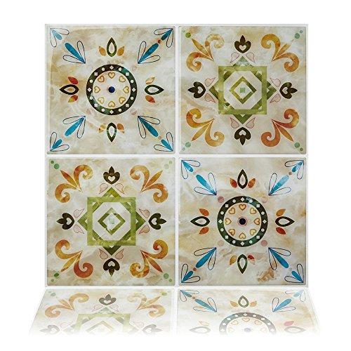 Cocotik Peel and Stick Tile Backsplash Kitchen Bathroom Decorative Tiles, Pack of 6 (10