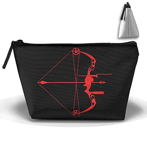 Unisex Bow Hunting American Flag Multifunction Portable Pouch Trapezoidal Storage Organizer Bag Cosmetic Bags